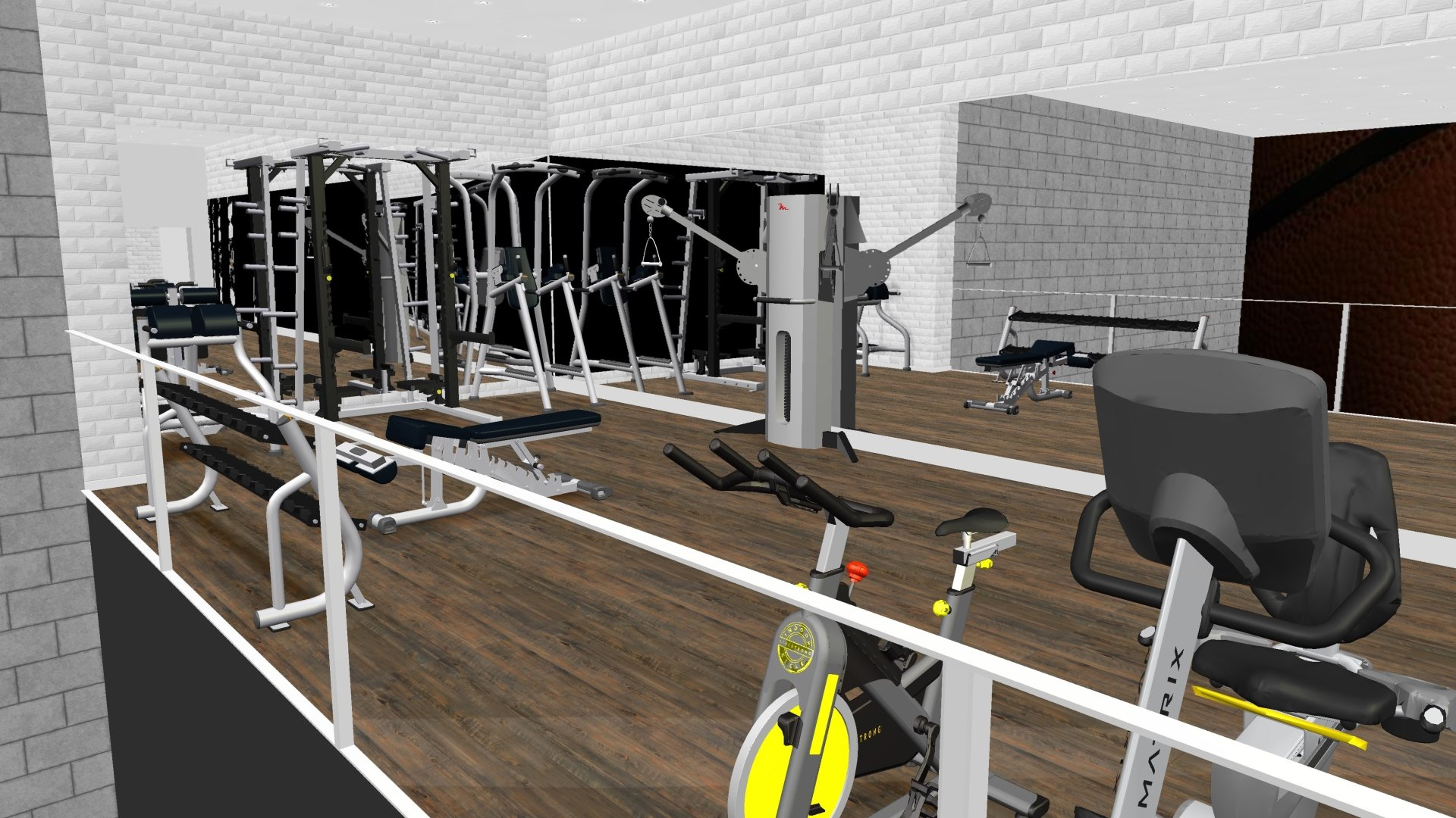 3D Design Brikor Strength Commercial Fitness Equipment