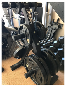 CAP Rubber Olympic Plates & Power Tech Rack 5×25 lbs